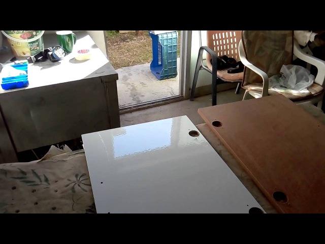 Покраска изделий из ДВП ДСП (стенка под телевизор )