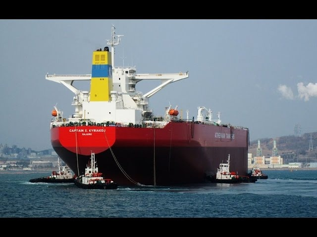 Time Lapse Crude Oil Tanker Berthing