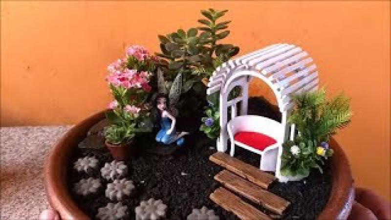 DIY Montando Mini Jardim. Detalhes Simples que faz a Diferença