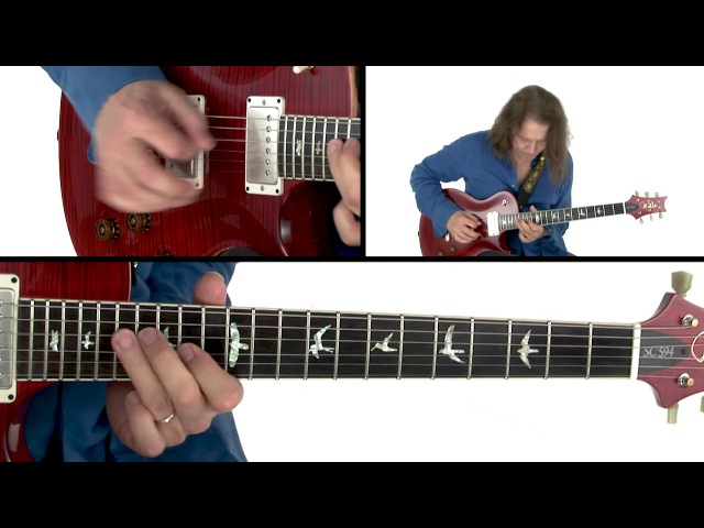 Robben Ford Guitar Lesson - Blues Shufflin in A Performance - Solo Revolution Diminished Lines