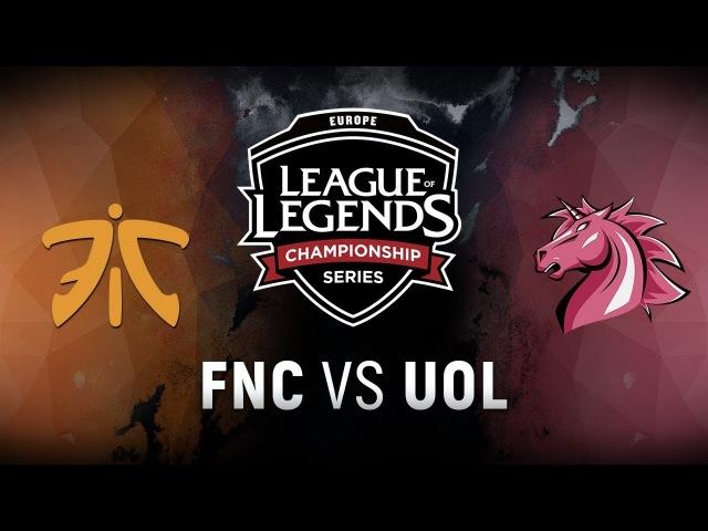 FNC vs. UOL - Week 4 Day 1 | EU LCS Spring Split | Fnatic vs. Unicorns of Love (2018)