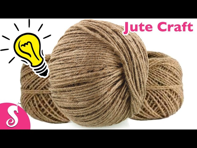 5 Cool Ideas of using JUTE Best out of waste Ideas for Home Decor by Sonali's Creations