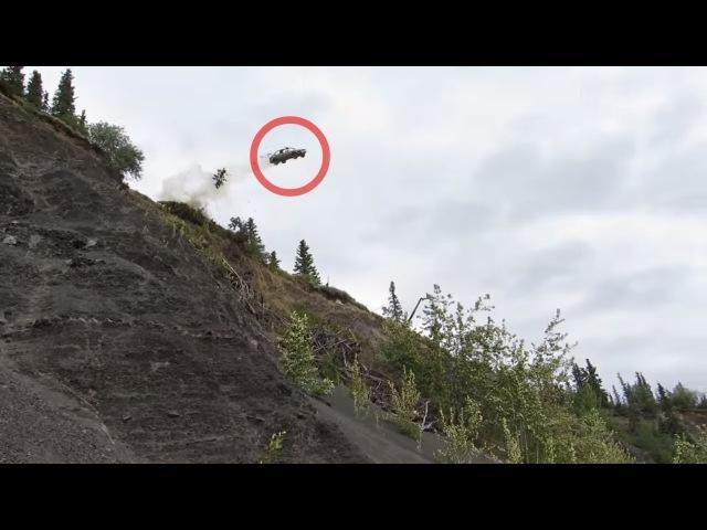 Разогнавшись съехать со скалы...: где-то в США