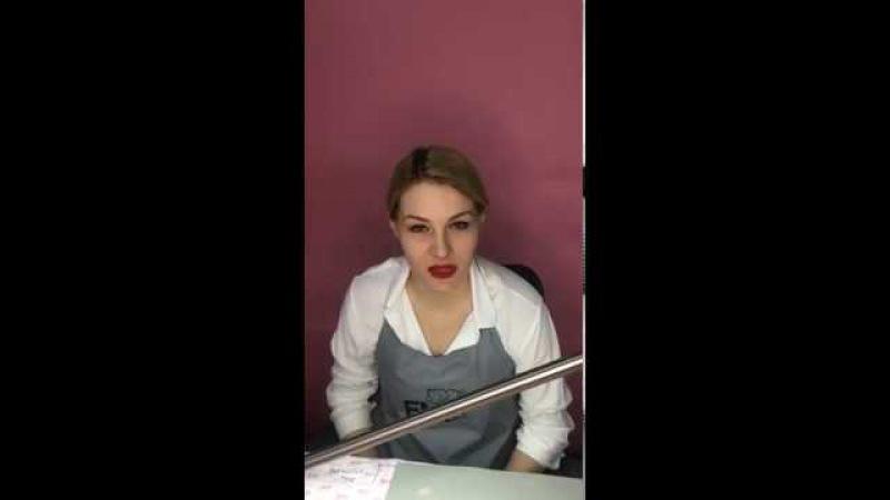 Дизайн ногтей на День Влюбленных. Рисуем ангелочка! Запись прямого эфира с Екате...