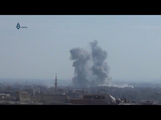 Боевые самолеты начали воздушные налеты на города и города восточной Гуты