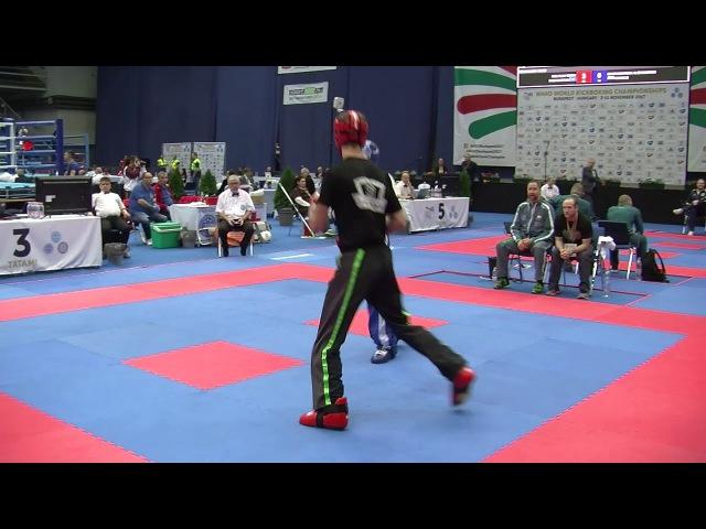 Vrezh Petrosian RUS v Adam Shelly IRL WAKO World Championships 2017