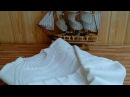 Белый мужской джемпер из Ализе Лана Голд Файн готов