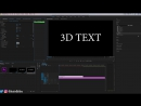 How to create 3D Animated Rotating Text Objects in Adobe Premiere Pro CC 2018 Tutorial