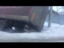 Фура провалилась в яму на Шахтёрском в Каменске-Шахтинском