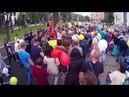 Полицаи на 9 мая срывают Знамя Победы. Украина. Наши дни