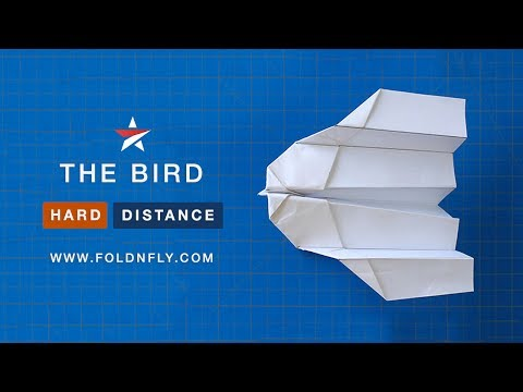 ✈ The Bird - A Fast Paper Airplane for Indoors or Outdoors - Fold 'N Fly