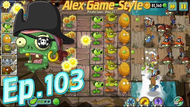 Plants vs. Zombies 2 || Defeat 8 zombies in 10 seconds - Pirate Seas Day 23 (Ep.103)