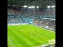 фонарики на стадионе. и гол дзюбы
