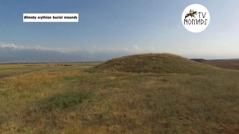 Almaty scythian burial mounds