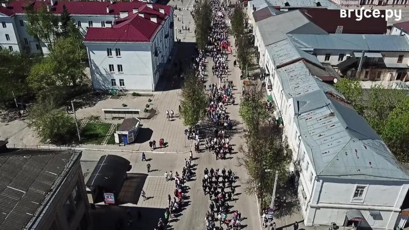 День Победы вГусе. Вид сверху (vk.com/vguse)