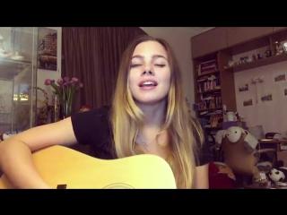 Макс Корж - Горы по колено (Красивая девушка поет шикарно песню)