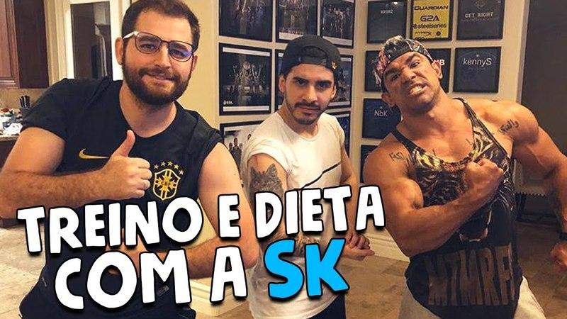 TREINO E DIETA COM A SK || VLOG 064