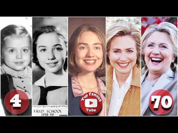 Hillary Clinton   Transformation From 1 To 70 Years Old