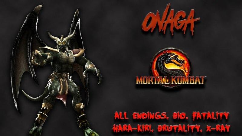 Mortal Kombat - All Fatality, Bio, Ending - Onaga