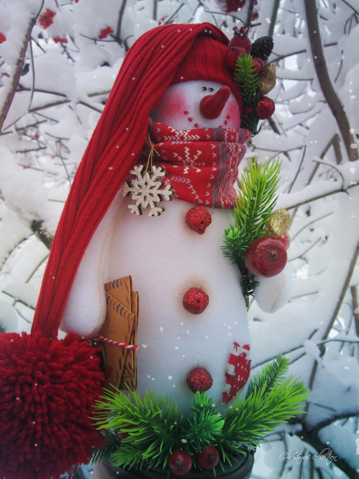 снеговик красивые