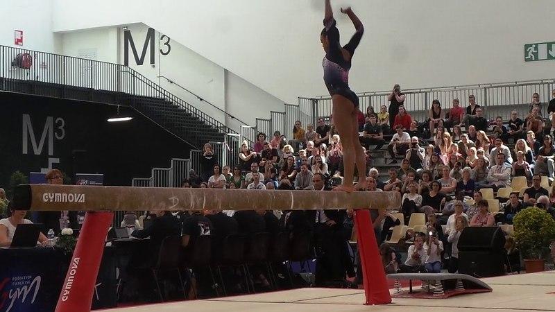 Mélanie De Jesus Dos Santos (2000) - finale poutre - Championnat de France 2018