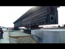 Установка части Керченского моста ж д на 41ю опору