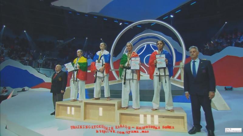 Церемония награждения женской части участниц чемпионата мира KWU 2017