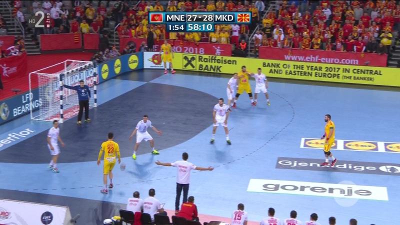 Crna Gora - Makedonija 28-29, posljednjih 8 minuta (EURO CROATIA 2018), 15.01.2018. Full HD