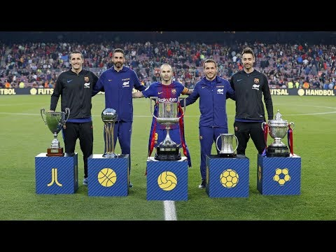 BARÇA 5-1 VILLARREAL | Tribute to the five-cup winning sides