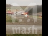 Под Пермью при взлёте загорелся военный самолет Миг-31