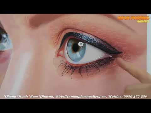 Cách vẽ đôi mắt   Treo tranh phong thủy người mệnh hỏa