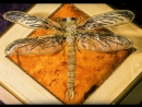 How to embroider a goldwork silver and gold dragonfly