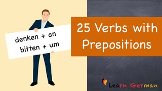 Learn German | German for daily use | 25 Verbs with prepositions | A2 | B1