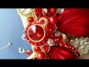 Страстный набор из колье с лентами шибори и сережками Великолепный век Автор Татьяна Кузьмина