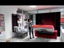 Вертикальная откидная кровать трансформер с диваном Виктория Н