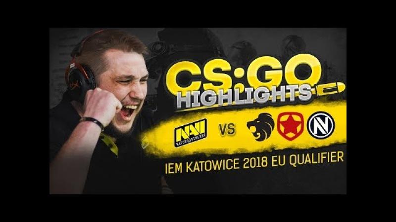 CSGO Highlights: NAVI vs North, Gambit, EnVyUs @ IEM Katowice 2018 EU Qualifier