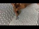 Slow motion video - Pearl bead work