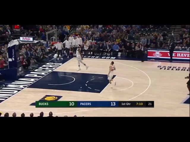 Power Dunk Myles Turner | Bucks vs. Pacers 96:109 | NBA 8th January 2018