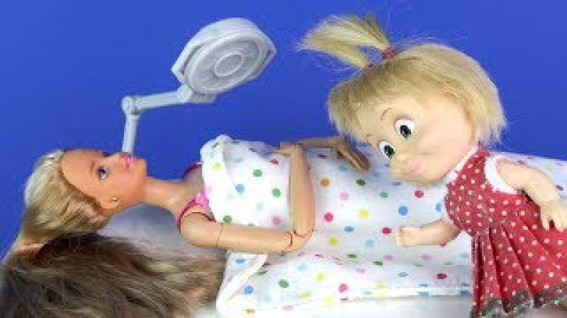 МЕНЯЕТ ТЕЛО Мама Барби, Маша и Медведь Мультик Куклы Барби Для девочек