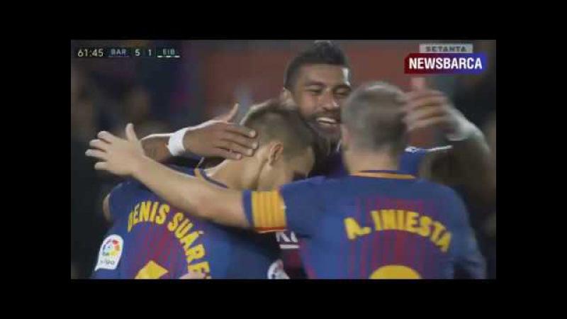Барселона 5-1 Эйбар Месси хет-трик