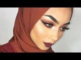 Glam Autumn/Fall makeup | ABH Modern Renaissance palette | My everyday hijab tutorial