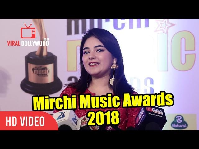 Zaira Wasim At Mirchi Music Awards 2018 | 10th Royal Stag Mirchi Music Awards