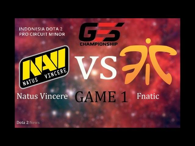 NaVi vs Fnatic 1 bo3 GESC Indonesia, 17.03.2018