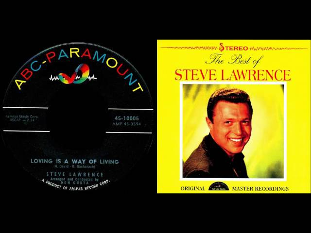 Steve Lawrence Loving Is A Way Of Living Bacharach David Stereo