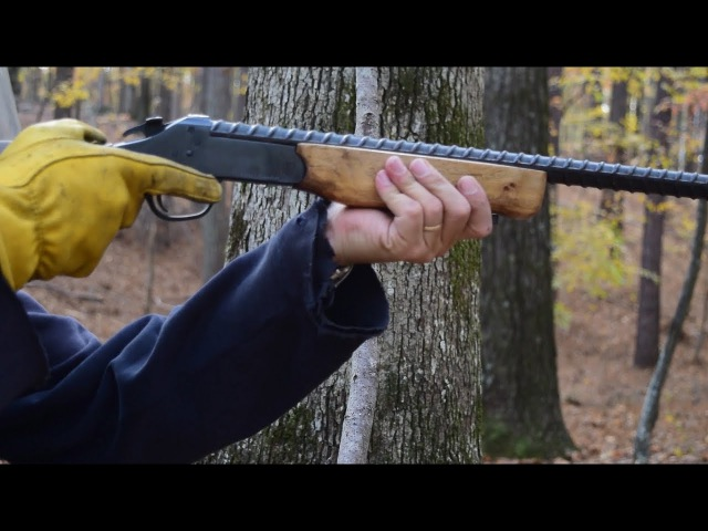 Rifle barrel made from rebar - PART 3. Shooting it!