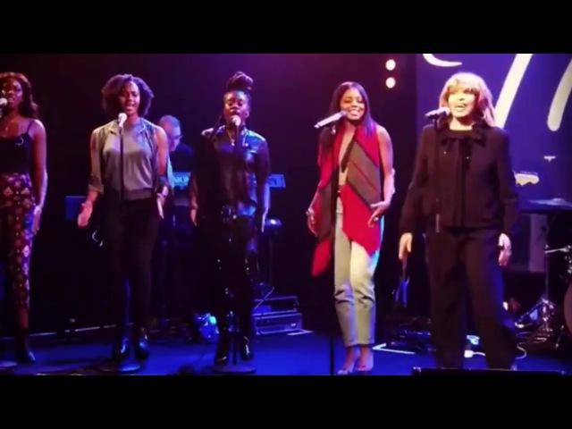Tina Turner Adrienne Warren - Proud Mary Rehearsal (2017)