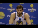Omri Casspi on Shooting Contest with Steph Curry Future with Warriors 2017 18 Warriors Media Day