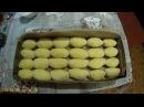 Печеные пирожки из дрожжевого теста с фруктами