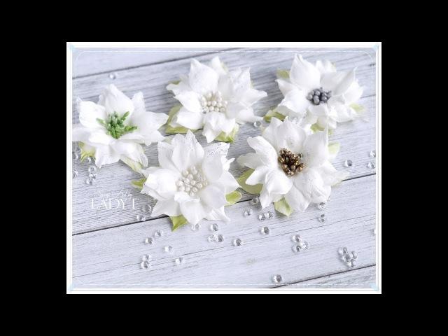 Simple Foamiran Poinsettia Flower Tutorial * Emilia Sieradzan *