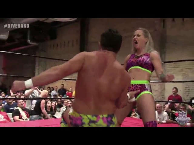 Laura James flips Joey Ryan with her vagina wins DDT Pro Wrestling Ironman Heavymetalweight Title